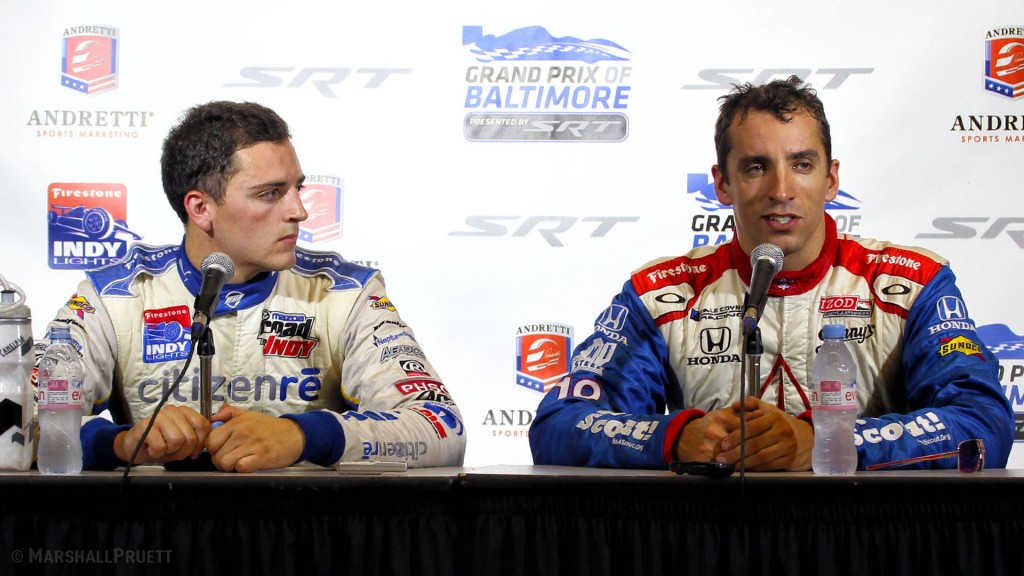 Photos of the late race car driver Justin Wilson (1978-2015) by Marshall Pruett.